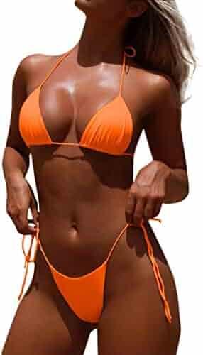 eb5368bd010 Limsea Women Bikini Set Swimsuit Beachwear Swimwear Push-Up Padded Solid  Bandage Leopard Print