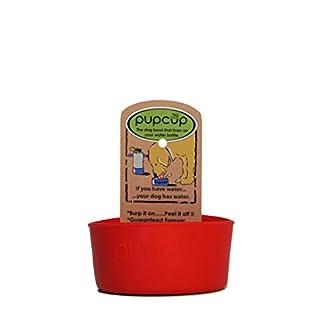 PupWerks The Original PupCup Dog Bowl, Ruh Roh Red