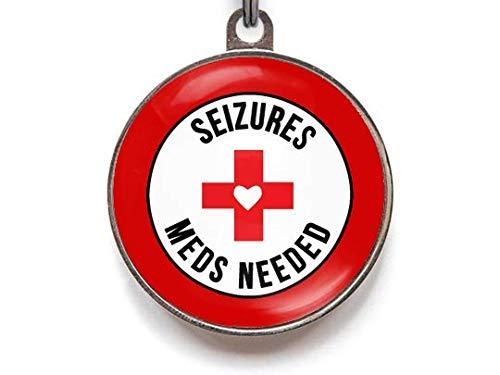 Seizures Meds Needed - Medical Alert Pet ID Tags