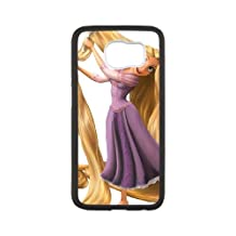 Samsung Galaxy S6 Cell Phone Case White Disney Tangled Character Rapunzel Wjomq