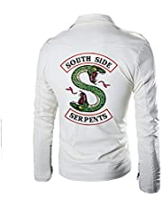 Hzlsy Riverdale Leren Jas Southside Serpents Gang Biker Motorfiets Bomber Snake Jas