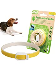 Collar for Cats and Dogs Natural Botanic Essential Oil Protection Collar Lasting Up to 60 days Adjustable Size (Yellow)