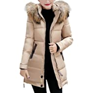 Vovotrade Women Slim Hooded Down Padded Long Winter Warm Parka Outerwear Ladies Zipper Jacket...