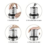 Betitay Electric Coffee Spice Grinder Mill with 2