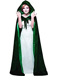 Unisex Hooded Wedding Cape Cloak lined with Satin For Halloween Costume