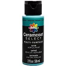 Plaid Delta 04020 Ceramcoat Select Multi-Surface Paint, 2 oz, True Turquoise