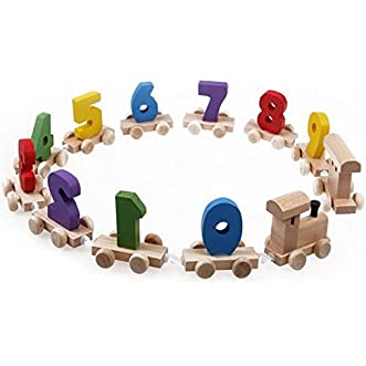 [Free Shipping] Children Wooden Number Train Digital Educational Toys // Niños del tren Número de madera juguetes educativos digitales