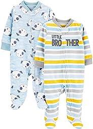Simple Joys by Carter's Baby-Boys 2-Pack Fleece Footed Sleep and