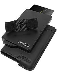 Minimalist Wallet for Men - Slim Credit Card Holder RFID Mens Wallets with Cash Pocket Removable Case