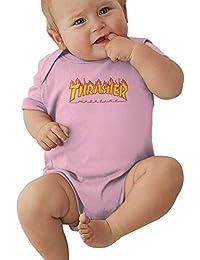 Thrasher Baby Unisex Toddler Bodysuit Summer Short Sleeves Romper Jumpsuits Boys Girls