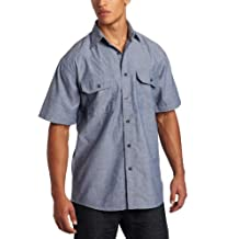 Key Apparel Men's Big-Tall Short Sleeve Button Down Wrinkle Resist Chambray Shirt