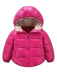 Gxia Little Girls Boys Hooded Down Jacket Lightweight Warm Waterproof Winter Coat