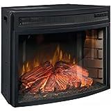 Best Review Sauder 418739 Paite 26 Curved Fireplace Insert 2598 L X 1307 W X 1850 H Black