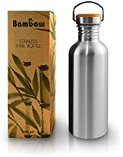 Bambaw Water Bottle | Stainless Steel Water Bottle | Eco Friendly Reusable Bottle | Leakproof and Sustainable Metal Water Bottle| Eco Water Bottle
