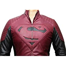 Mens Superhero Leather Jacket With Superhero Logo for man ►BEST SELLER◄