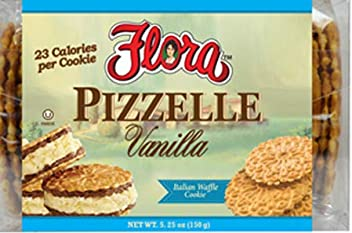 Flora Foods Pizzelle Cookies - Italian Waffle Cookie - Sweet Snack - Great snack ONLY 23