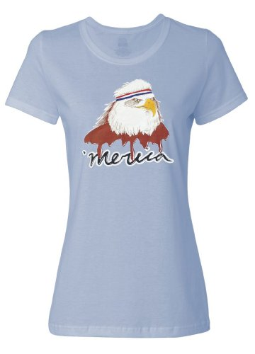 USA Mullet Eagle | Patriotic 80's Eagle of Freedom - Merica Ladies' T-shirt-Ladies,L