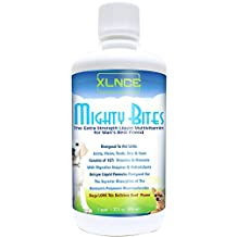 MightyBites - Dog Vitamins: Complete Liquid Multivitamin. Extra Strength Supplement for Improved Skin, Coat, Fur, Bones, Teeth & Hip Joints with Glucosamine, MSM, Amino Acids, & Digestive Enzymes + Dental Care. Support Independent Canadian Business! - SHIPS FOR FREE