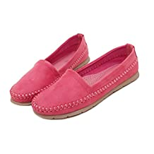 Doris Fashion 339-3 Women's Suede Flats Dress Loafer Driving Moccasin Work Shoes