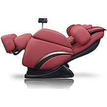 ideal massage Full Featured Shiatsu Chair with Built in Heat Zero Gravity Positioning Deep Tissue Massage (RED)