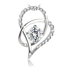 """J.Rosée Jewelry S925 Sterling Silver Pendant Necklace """"Heart of Ice"""" Exquisite Gift Package (45cm+5)"""