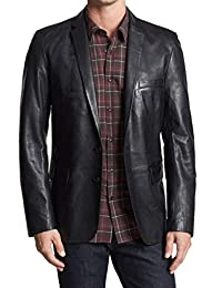 London Craze Mens Stylish Lambskin Genuine Leather Blazer Coat 22