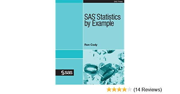 Pdf ron statistics cody by example sas
