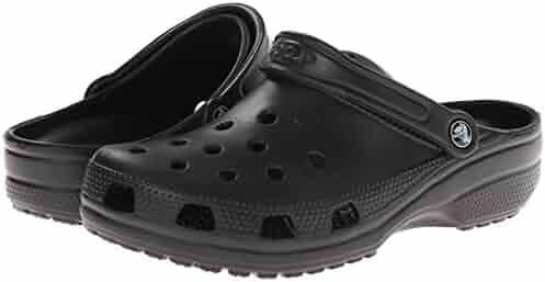 Crocs Unisex Classic Clog, Black, 9 US Men / 11 US Women