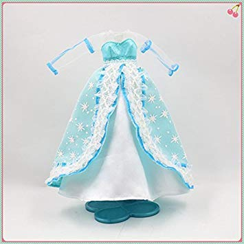 Clothes for 1 6 Blyth Princess Dress Light blueee Long Dress