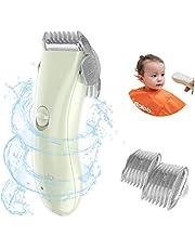Kids Hair Clipper - Quiet Baby Hair Trimmer, Cordless & Waterproof, ABS Ceramic Blade, Green