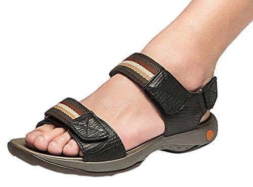 Chickle Men's Leather Strap Stitch Velcro Strap Leather Sandal B01D1HC9IE Shoes 8d0e0d