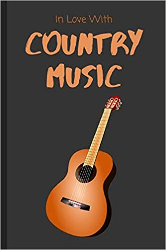 In Love With Country Music Notebook Lined Journal Gift Idea For Kids Adults Amazon Co Uk Productions Aesthetic Books