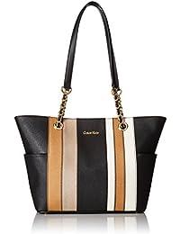 Saffiano Chain Tote Bag