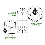 Garden Trellis for Vines and Climbing Plants, Black Metal Wire Lattice Grid Panels for Cucumber & Vegetables, Clematis Support, Rose Vines, Durable & Sturdy Beautiful Plant Decor