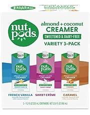 nutpods Zero-Sugar Sweetened Coffee Creamer, Variety 3 Pack, Dairy-Free, 5 Calories per serving, Keto, WW, Gluten Free, Non-GMO, Vegan, Kosher (3-Pack)