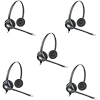 Plantronics HW261n Binaural Wired Office Headset- 5 Pack (Certified Refurbished)