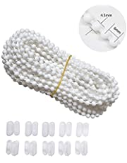 Luanxu 10 Meters Bead Chain with 10 PCS Connectors for Blind & Shade Chain Cord Fix or Replace for Roller Roman Venetian Honeycomb Vertical Zebra Shade Blind Curtain Chain (#10, 10.94 Yards)