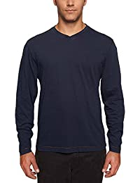 by Thaddeus Mens Chip Long Sleeve Jersey V-Neck T Shirt