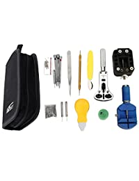 BTSKY Professional 144 PCS Watch Link Repair Remover Case Opener Wrench Band Pin Watch Repair Tool Kit
