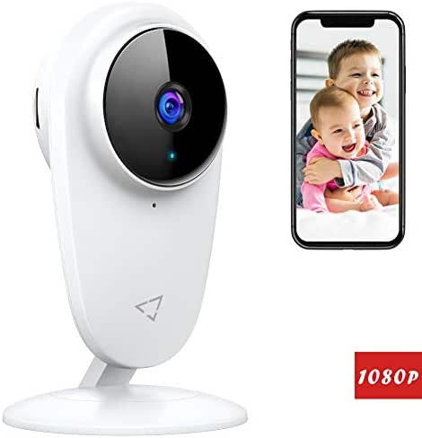 Victure 1080P FHD Baby Monitor Pet Camera 2.4G Wireless Indoor Home Security Camera with Two-Way Audio Motion Detection Night Vision for Baby/Pet/Nanny/Elderly Compatible with iOS & Android System