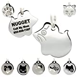Stainless Steel Cat ID Tags - Engraved Personalized