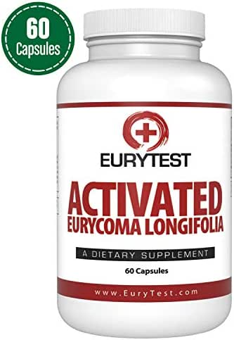 EuryTest Male Enhancement Supplement -Sex Drive Enhancer & Libido Sexual Support, Highly Rated Natural Testosterone Booster Formula, Longjack Tongkat Ali Extract 100:1 (60 Capsules)/Made in The USA