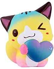 Anboor Squishies Cat Love Heart Kawaii Soft Squishy Slow Rising Scented Animal Squishies Stress Relief Toys Prime Collection Gift 1PCS