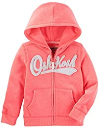 Girls' 2T-8 Long Sleeve Logo Hoodie Pink 4T