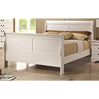 Sleigh Bed in White Finish (Queen - 91 in. L x 62.75 in. W x 47 in. H)