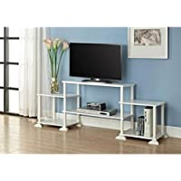 NEW TV Stand Entertainment Center Media Console Furniture Wood Storage Cabinet (White)