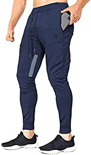 ZENWILL Mens Vertex Workout Jogger Pants,Slim Fit Gym Training Sweatpants with Zip Pockets