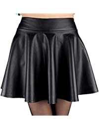 Amazon.com: black leather mini skirt: Clothing, Shoes