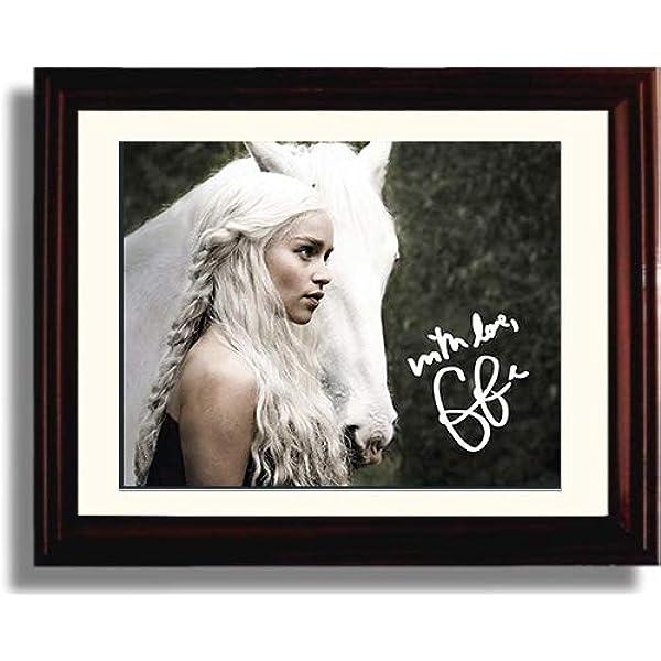 157774 Emilia Clarke Game of Thrones Daenerys Targaryen Print Poster Affiche