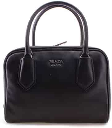 9cc92b491bb2 Prada Milano Leather Tote Womens Handbag Shoulder Bag - 100% Guaranteed  Authentic - Black Fashion